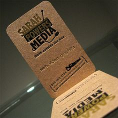 craft paper business cards - Buscar con Google