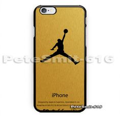 Gold Jordan Air Logo New Print On Hard Cover Phone Case For iPhone 6/6s plus #UnbrandedGeneric