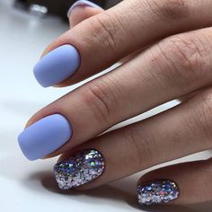 On average, the finger nails grow from 3 to millimeters per month. If it is difficult to change their growth rate, however, it is possible to cheat on their appearance and length through false nails. Winter Nail Designs, Colorful Nail Designs, Nail Art Designs, Colorful Nails, Nails Design, Cute Easy Nail Designs, Stylish Nails, Trendy Nails, Diy Nails