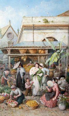 Galerii de arta: Myles Birket Foster (4 februarie 1825 – 27 martie 1899), ilustrator, acuarelist si gravor englez