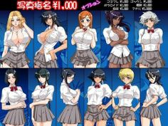 Photo of Shinigami School Girls for fans of Bleach Anime.