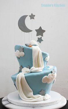 Bonita tarta para celebración de Baby shower. #babyshower #tarta #pastel