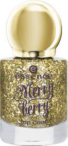 Essence Merry Berry Top Coat 01 I Love My Golden Pumps