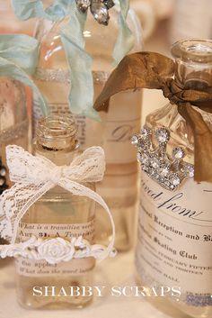 altered bottles by shabbyscraps, via Flickr
