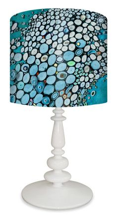 """Crashing Down 26"""" H Table Lamp with Drum Table"""