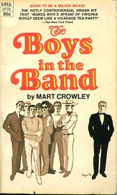 The Boys in the Band by Mart Crowley, 1969 Dell paperback