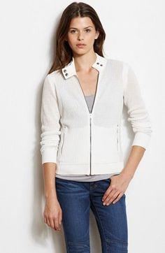 Knit Moto Jacket - Knit Tops - Womens - Armani Exchange