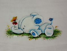 Coisas da Nil - Pintura em tecido: Elefantinho mimoso...