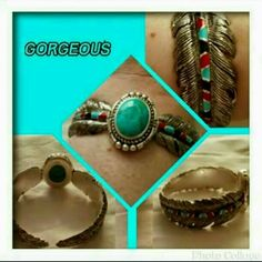 💙 Turquiose & Sterling Cuff Bracelet 💙 Woman's Sedona Sky Cuff Bracelet. This Beautiful Piece Is Handcrafted With A Genuine Turquoise Cabachon & Hand Enameled Accents. This Is An Original Design For The Bradford Exchange. Excellent Condition & comes With A Certificate Of Authenticity. I Paid $99 + S&H + Taxes 🚫 TRADES 🚫 PAYPAL 🚫 OFFERS PRICE NOW FIRM 💙 Bradford Exchange  Jewelry Bracelets