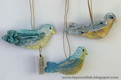 Design team member Anna-Karin Evaldsson shares a great tutorial for three different ways to create stunning birds with @Eileen Hull's Scoreboards Bird Die.  Check it out on our blog: http://sizzixblog.blogspot.com/2012/06/three-birds.html