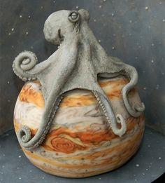 Besondere Kuchen dekorieren oktopus design
