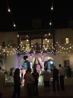 Powel Crosly Estate wedding. Bradenton, Sarasota, FL wedding. South Florida wedding DJ. DJ in the balcony, Edison lights. Outdoor wedding. Florida wedding DJ Click link to see more of my work: http://www.djdayve.com/