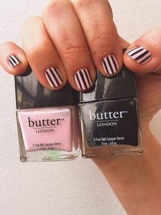 Pink Stripe by butter LONDON, Find the products used to create this look on Sephora's #TheBeautyBoard>