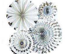 Antiguo Vintage Floral y servilleta papel del partido Pinwheel