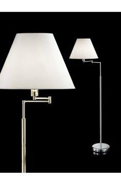 Lampada da Terra Piantana con braccio snodabile e altezza regolabile.