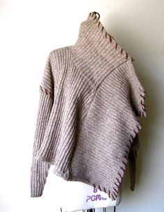 Knit Wool Drape Cardigan Jacket Wrap by OUTLYING on Etsy