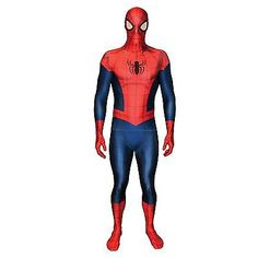 Adult mens marvel #amazing #spiderman morphsuit superhero fancy dress #costume ne,  View more on the LINK: http://www.zeppy.io/product/gb/2/262093116381/