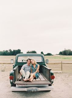 Couple in the back of an old Chevy.  Photo by Odalys Mendez.