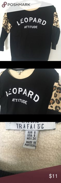 Zara basic crewneck tiger 3/4 black sweater S Hi and thank you for viewing my listing! :)   This item is very gently used and in perfect condition, no flaws and comes from a smoke free home.   Offers are welcome and I offer bundle discounts.   Please let me know if you have any questions!   xxxxxxx Zara Sweaters Crew & Scoop Necks