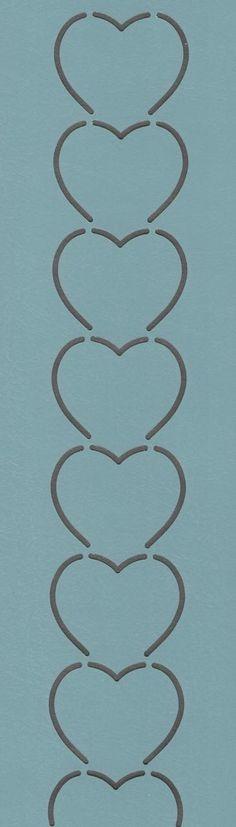 """Hearts-Vertical 1.5"""" - The Stencil Company"""