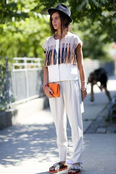 New York Fashion Week  Spring/Summer  2015 - Street Style, Day 7