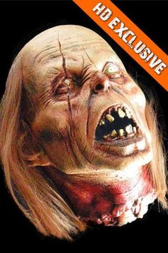 MOVIE QUALITY EXTREME SEVERED ZOMBIE HEAD Halloween Decoration