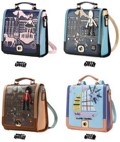 New fashion women printing backpack leather school bag, brand design backpack for outdoor fun & sports, fashion korean backpacks-inCasual Daypacks from Luggage & Bags on Aliexpress.com
