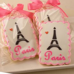 Paris Themed Cookies, Eiffel Tower - 12 Decorated Sugar Cookies on Etsy, $30.00