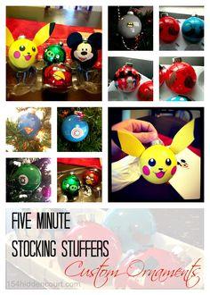 154 Hidden Court: Five Minute Stocking Stuffers - DIY Custom Ornaments