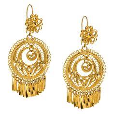 JJ Caprices - Mexican Filigree Earrings from Oaxaca