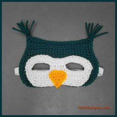 Crochet Tutorial: Owl Mask | YARNutopia by Nadia Fuad