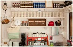 if i ever had a coffee shop, these are what the shelves would look like. ruschmeyer's restaurant via beachbungalow8.blogspot.com.