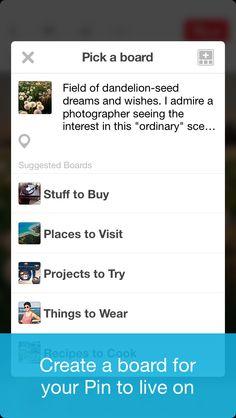 Pinterest / 4.0 / Onboarding / Tutorial // View entire user flow on: www.uxarchive.com/apps/pinterest