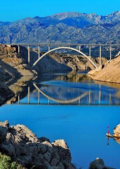 Maslenica bridge, Croatia Croatian Islands, Bosnia And Herzegovina, Montenegro, Bali, Places To Go, Bridge, Marvel, River, City