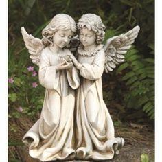 Outdoor Angel Statues, Outdoor Garden Statues, Bird Statues, Angel Decor, Angel Art, Angel Garden, Angels Among Us, Desenho Tattoo, Religious Art