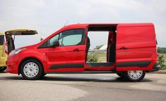 Red 2014 Ford Transit Connect