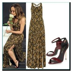 """""""Python Dress"""" by jadethirlwall92 ❤ liked on Polyvore featuring women's clothing, women, female, woman, misses and juniors"""