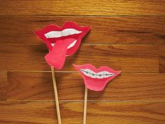 Fun Mouth Photo Booth Prop Set  Braces  Tongue Out  by LoveMischka