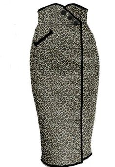 Leopard Rockabilly Wiggle skirt by Amber Middaugh --Save at… Vintage Dresses, Vintage Outfits, Vintage Clothing, Vintage Fashion, Rockabilly Outfits, Rockabilly Fashion, Love Fashion, Fashion Outfits, Womens Fashion