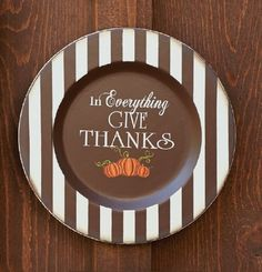 """In Everything Give Thanks (13"""" Plate). A perfect reminder to display in the home during the #Thanksgiving season!"""