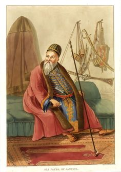 Portrait of Ali Pasha of Ioannina. Albanian People, Albanian Culture, Middle Eastern Fashion, Islamic World, Southern Italy, Eastern Europe, Historical Clothing, Rugs On Carpet, Portrait
