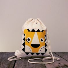 Clockwork jungle collection - lion baby backpack - designed, screen printed and sewed by byKokoro