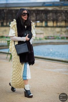 Paris Fashion Week FW 2016 Street Style: Veronique Tristram