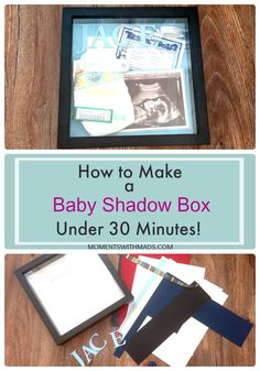 Have you ever wanted a place to put all of your little one's keepsakes other than in a bin downstairs? Here is a simple step by step guide on how to create a baby shadow box in 30 minutes or less! Check it out! Baby Memories, Keepsakes, Step Guide, Shadow Box, Little Ones, Babies, Create, Simple, Check