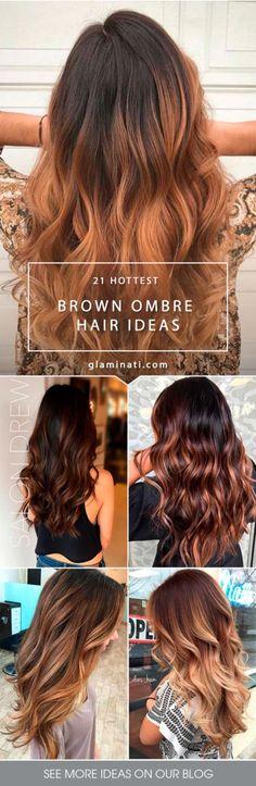 Nouvelle Tendance Coiffures Pour Femme 2017 / 2018 Essayer les cheveux ombre marron est une excellente solution au cas où vous souhaitez ajouter une
