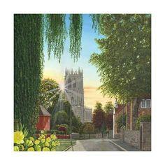 size: Art Print: Summer Morning St Mary's Church Tickhill Yorkshire by Richard Harpum : Find Art, Framed Artwork, Yorkshire, Saints, Mary, Art Prints, Summer, Painting, Catalog