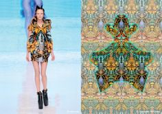 The Queen of the Prints. Chinsky Cheung for Alexander McQueen