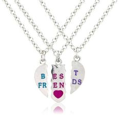 3 Part bestfriends necklace, perfect for your 3 b ($15.49)