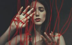 Dark poetic portrait by Anka Zhuravleva Narcisse Et Echo, Creative Photography, Portrait Photography, Red String Of Fate, Buy Prints, Pose Reference, Character Inspiration, Photoshop, Aesthetics