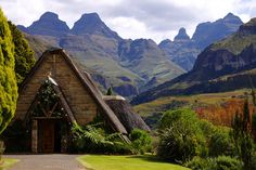 "Chapel at Cathedral Peak Hotel in Drakensberg, South Africa. Photo credit: Cathedral Peak Hotel via Elle. Destinations for a Dream Wedding"" by Melissa Henderson. Destination Wedding Locations, Wedding Venues, Wedding Destinations, Wedding Ideas, Wedding Stuff, Wedding Inspiration, Africa Destinations, Namibia, Kwazulu Natal"